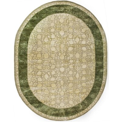Bellview Ivory/Sage Area Rug Rug Size: Oval 76 x 96