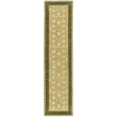 Bellview Ivory/Sage Area Rug Rug Size: Runner 26 x 12
