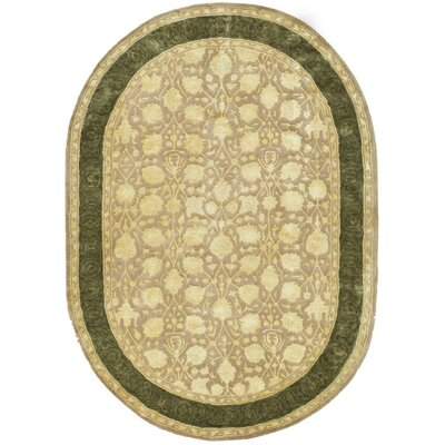 Bellview Ivory/Sage Area Rug Rug Size: Oval 46 x 66