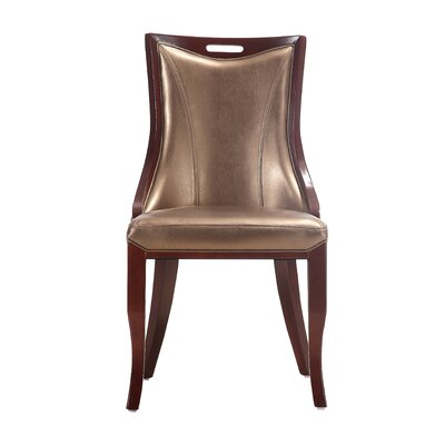 Crawfordville Leatherette Upholstered Dining Chair Upholstery: Gold