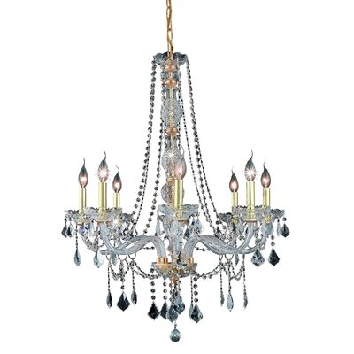 Abram 8-Light Crystal Chandelier Finish / Crystal Color / Crystal Trim: Gold / Crystal (Clear) / Spectra Swarovski