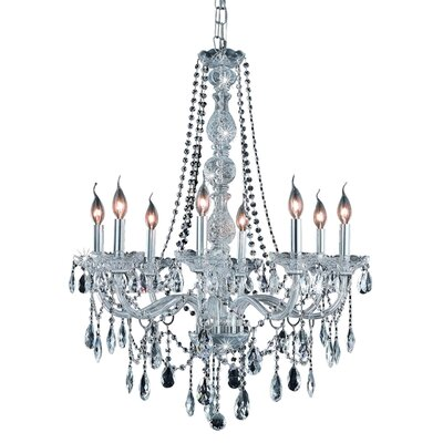 Abram 8-Light Crystal Chandelier Finish / Crystal Color / Crystal Trim: Chrome / Crystal (Clear) / Strass Swarovski