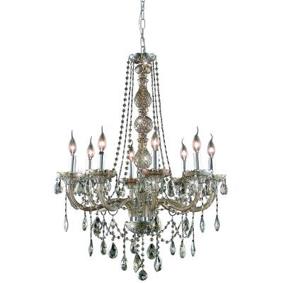 Abram 8-Light Crystal Chandelier Finish / Crystal Color / Crystal Trim: Golden Teak / Golden Teak (Smoky) / Royal Cut