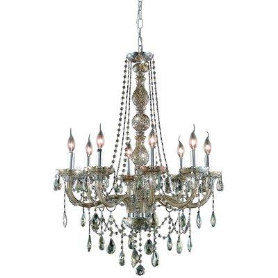 Abram 8-Light Crystal Chandelier Color / Crystal Color / Crystal Trim: Golden Teak / Golden Teak (Smoky) / Royal Cut