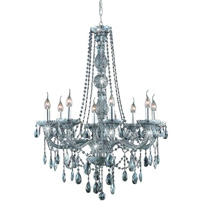 Abram 8-Light Crystal Chandelier Color / Crystal Color / Crystal Trim: Silver Shade / Silver Shade (Grey) / Royal Cut