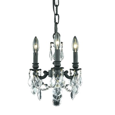 Downes 3-Light Candle-Style Chandelier Crystal Trim: Strass Swarovski