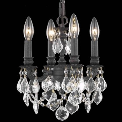 Downes 4-Light Crystal Chandelier Crystal Trim: Elegant Cut
