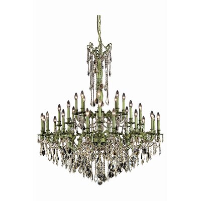 Utica 32-Light Crystal Chandelier Crystal Grade: Spectra Swarovski, Finish: Pewter