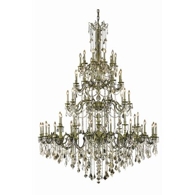 Utica 60-Light Crystal Chandelier Color: Dark Bronze, Crystal Grade: Royal Cut