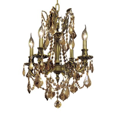 Utica 4-Light Crystal Chandelier Color / Crystal Color / Crystal Trim: Antique Bronze / Smoky / Strass Swarovski