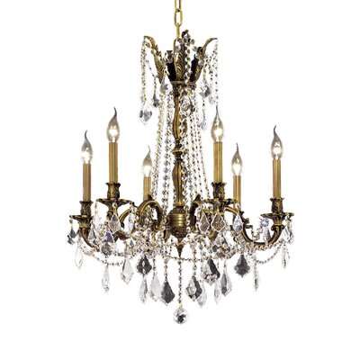 Utica 6-Light Crystal Chandelier Finish / Crystal Color / Crystal Trim: Antique Bronze / Clear / Strass Swarovski