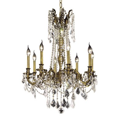 Utica 8-Light Crystal Chandelier Color / Crystal Color / Crystal Trim: Antique Bronze / Golden Teak (Smoky) / Royal Cut