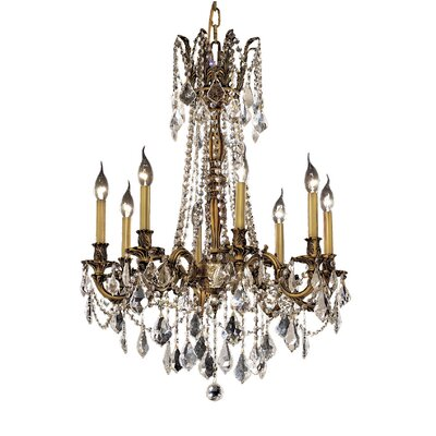 Utica 8-Light Crystal Chandelier Finish / Crystal Color / Crystal Trim: French Gold / Crystal (Clear) / Strass Swarovski