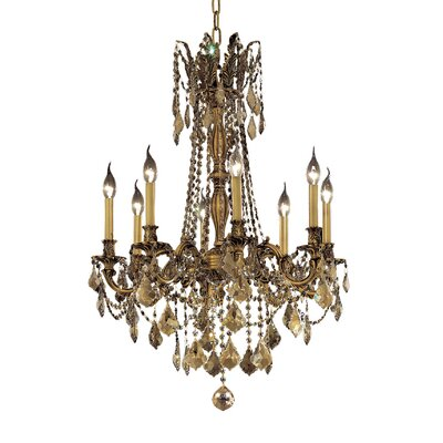 Utica 8-Light Crystal Chandelier Finish / Crystal Color / Crystal Trim: French Gold / Golden Teak (Smoky) / Royal Cut