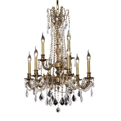 Utica 9-Light Crystal Chandelier Color / Crystal Color / Crystal Trim: French Gold / Crystal (Clear) / Strass Swarovski