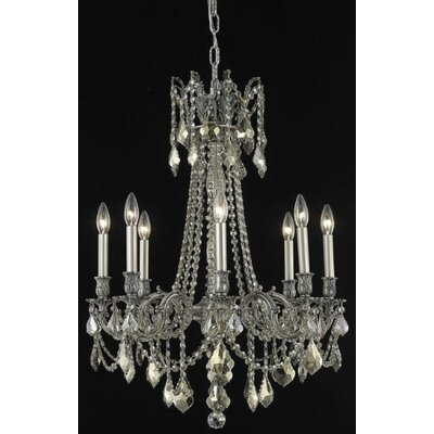Utica 8-Light Candle-Style Chandelier Crystal Color / Crystal Trim: Crystal (Clear) / Elegant Cut