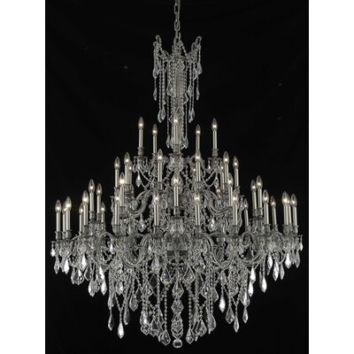 Utica 45-Light Candle-Style Chandelier Crystal Color / Crystal Trim: Crystal (Clear) / Royal Cut