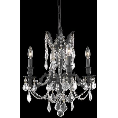 Utica 4-Light Crystal Chandelier Crystal Color / Crystal Trim: Golden Teak (Smoky) / Royal Cut
