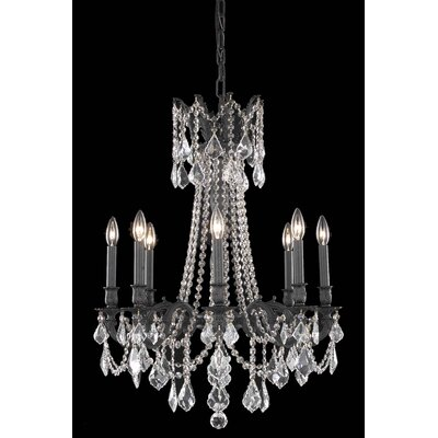 Utica 8-Light Crystal Chandelier Crystal Color / Crystal Trim: Golden Teak (Smoky) / Royal Cut