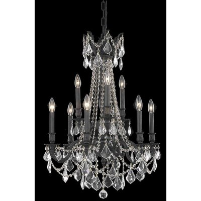 Utica 9-Light Crystal Chandelier Crystal Color / Crystal Trim: Golden Teak (Smoky) / Strass Swarovski