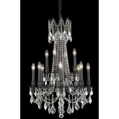 Utica 12-Light Crystal Chandelier Crystal Color / Crystal Trim: Golden Teak (Smoky) / Strass Swarovski