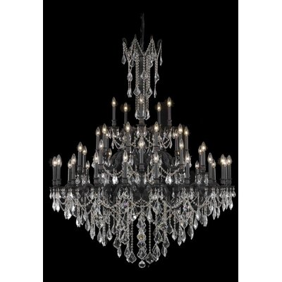 Utica 45-Light Crystal Chandelier Crystal Color / Crystal Trim: Golden Teak (Smoky) / Royal Cut