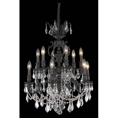 Canary 12-Light Crystal Chandelier Crystal Color / Crystal Trim: Golden Shadow (Champagne) / Royal Cut