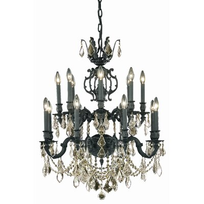 Canary 16-Light Crystal Chandelier Crystal Color / Crystal Trim: Golden Shadow (Champagne) / Royal Cut