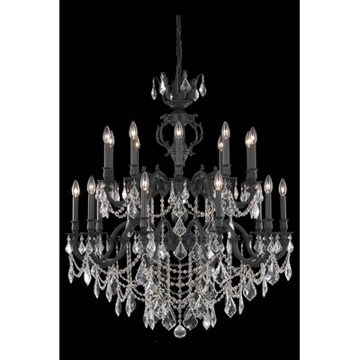 Canary 20-Light Crystal Chandelier Crystal Color / Crystal Trim: Golden Shadow (Champagne) / Strass Swarovski
