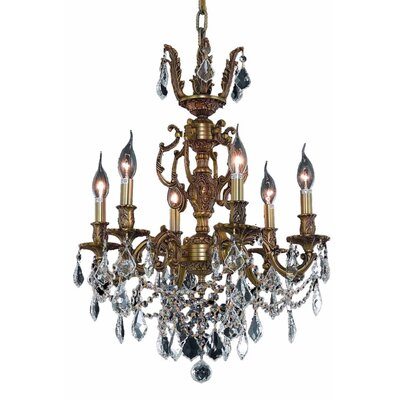 Canary 6-Light Crystal Chandelier Finish / Crystal Color / Crystal Trim: French Gold / Crystal (Clear) / Strass Swarovski