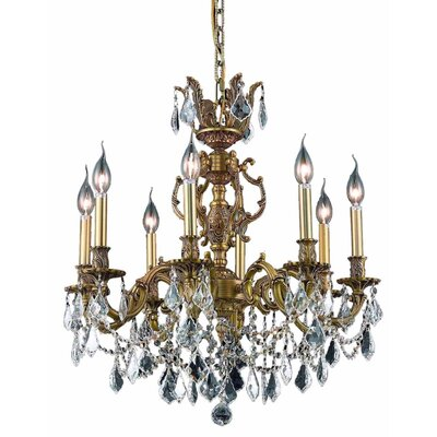 Canary 8-Light Crystal Chandelier Color / Crystal Color / Crystal Trim: French Gold / Crystal (Clear) / Strass Swarovski