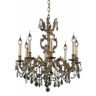 Canary 8-Light Crystal Chandelier Finish / Crystal Color / Crystal Trim: French Gold / Smoky / Strass Swarovski