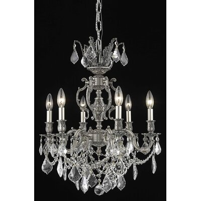 Canary 6-Light Candle-Style Chandelier Crystal Color / Crystal Trim: Crystal (Clear) / Royal Cut