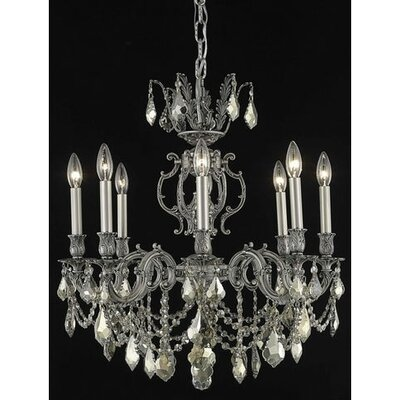 Canary 8-Light Candle-Style Chandelier Crystal Color / Crystal Trim: Golden Teak (Smoky) / Strass Swarovski