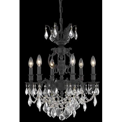 Canary 6-Light Crystal Chandelier Crystal Color / Crystal Trim: Crystal (Clear) / Elegant Cut