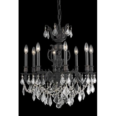 Canary 8-Light Crystal Chandelier Crystal Color / Crystal Trim: Golden Shadow (Champagne) / Strass Swarovski