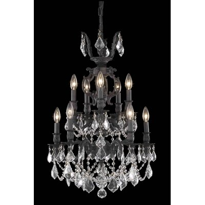 Canary 10-Light Crystal Chandelier Crystal Color / Crystal Trim: Crystal (Clear) / Elegant Cut