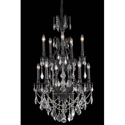 Almont 10-Light Crystal Chandelier Crystal Color / Crystal Trim: Golden Shadow (Champagne) / Royal Cut