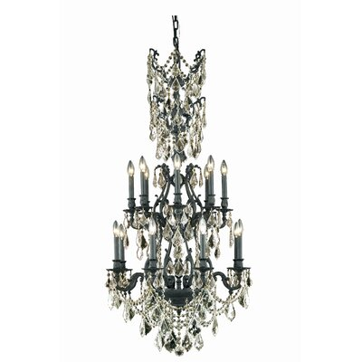 Almont 16-Light Crystal Chandelier Crystal Color / Crystal Trim: Crystal (Clear) / Royal Cut