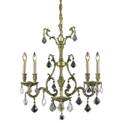 Almont 4-Light Crystal Chandelier Finish / Crystal Color / Crystal Trim: Antique Bronze / Crystal (Clear) / Elegant Cut