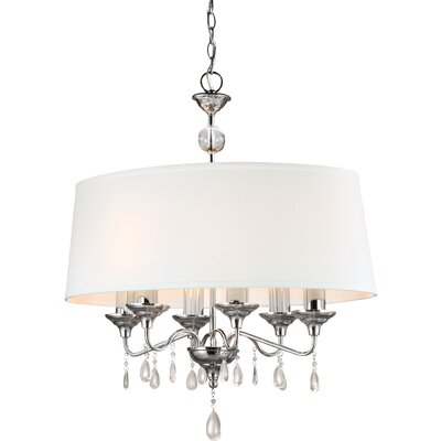 Riverina 6-Light Pendant Finish / Shade Color: Chrome / White