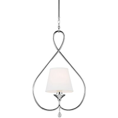 Riverina 1-Light Mini Pendant Finish / Shade Color: Chrome / White, Bulb Type: Fluorescent