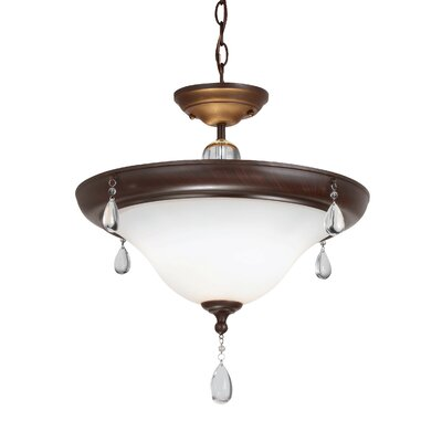 Riverina 2-Light Mini Pendant Finish: Burnt Sienna