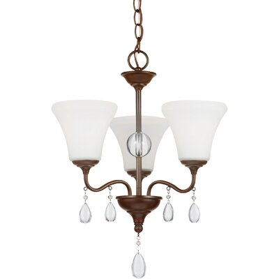 Riverina 3-Light Shaded Chandelier Finish: Burnt Sienna, Bulb Type: Incandescent