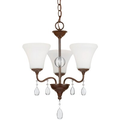 Riverina 3-Light Shaded Chandelier Color: Burnt Sienna, Bulb Type: Incandescent