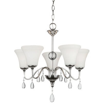 Riverina 5-Light Shaded Chandelier Finish: Burnt Sienna, Bulb Type: Incandescent