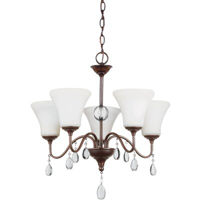 Riverina 5-Light Shaded Chandelier Color: Burnt Sienna, Bulb Type: Incandescent