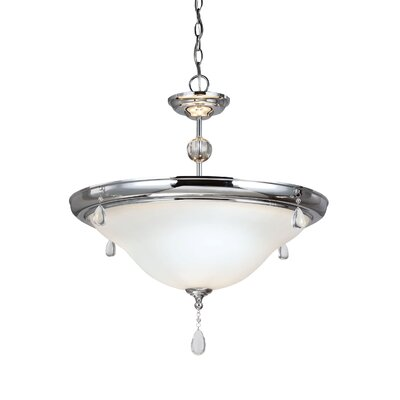 Riverina 3-Light Mini Pendant Finish: Chrome