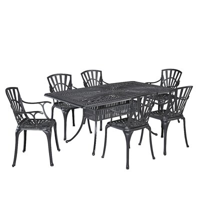 Frontenac 7 Piece Dining Set Color: Charcoal