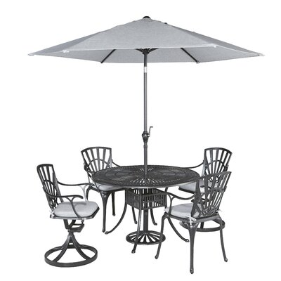 Frontenac 5 Piece Dining Set with Cushions Table Size: 48